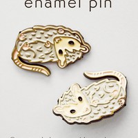 Possum Pin - Opossum Enamel Pin - Possum Enamel Pin by boygirlparty