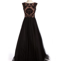 Women's Apparel | New Arrivals | Sleeveless Damask Evening Gown | Lord and Taylor