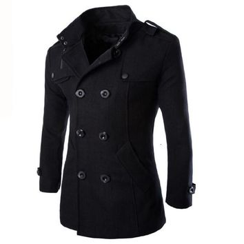 Men's Trench Style English Vampire Pea Coat