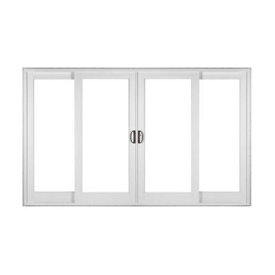 Simonton white 4 panel french rail from home depot epic for French patio door sizes