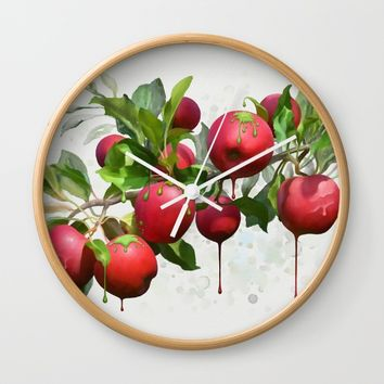 Melting Apples Wall Clock by IvanaW