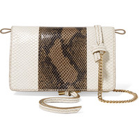 Stella McCartney - Two-tone faux python shoulder bag