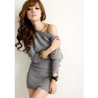 Free Size Grey Women/Girl Kniting Top@T888g