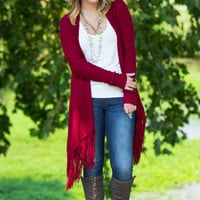 Izzy & Lola-Laurel Cardigan-Wine