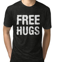 ' Free Hugs T-Shirt' T-Shirt by strongwe