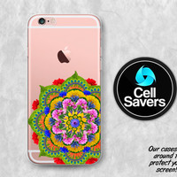 Flower Mandala Clear iPhone 6s Case iPhone 6 Case iPhone 6 Plus iPhone 6s Plus iPhone 5c iPhone 5 iPhone SE Case Real Floral Mandala Tumblr