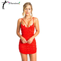 2016 top design women sexy lace dress new fashion blue red beige silm bodycon dresses club style hollow out backless night dress