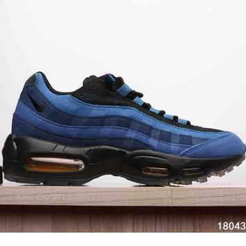 NIKE AIR MAX 95 MEN SHOES CONTRAST SOLES SNEAKERS SPORTS SHOES B-A-XIONGDI-UPING Blue