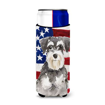 Patriotic USA Schnauzer #2 Michelob Ultra Hugger for slim cans CK1722MUK