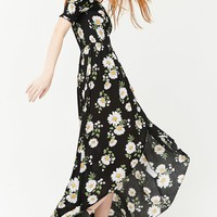 Smocked Floral High-Low Dress