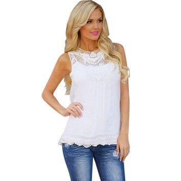 Women Summer Blouse- Cotton & Lace