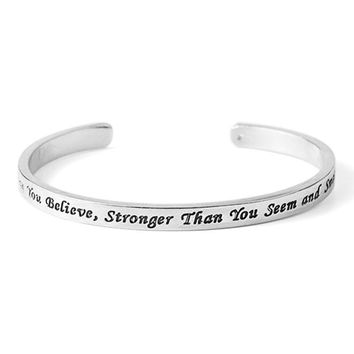 'You Are Braver Than You Believe' Bangle