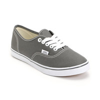 Vans Girls Authentic Lo Pro Pewter Shoe