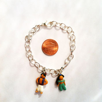 Disney's Aladdin Inspired Clay Charm Bracelet by aWishUponACharm