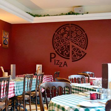 ik1032 Wall Decal Sticker pizza Pizzeria Italian Restaurant Pizzeria Italy