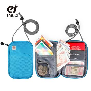 ECOSUSI Passport Wallets High Quality Passport Holder Convenience Passport Bag For Pass Port ID Bank Card Organizer Bag