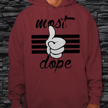 "Most Dope Mickey Hand Unisex Hoodie {Size Print 12""x16""}"