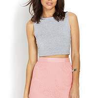 LOVE 21 Lace Mini Skirt Pink Large