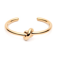 Amber Sceats | Gold Knot Bangle Bracelet