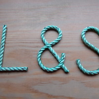 4 Inch Rope Letters Personalize Nautical Nursery