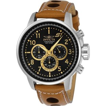 Invicta Men's 23597 S1 Rally Quartz Chronograph Black Dial Watch