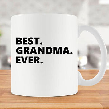 Grandma Gift Ideas Best Coffee Cup Grandma Mug Gifts For Grandmother Ceramic Mug Mothers Day Gift Coffee Mug Best Grandma Ever - SA3