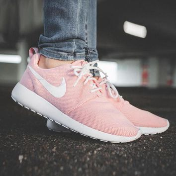 Nike Roshe Run Women Casual Sneakers Sport Running Shoes pink green H 8-19