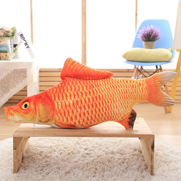 Best fish christmas decorations products on wanelo for Fish shaped pillow
