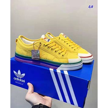 Adidas PRIDE NIZZA Fashion New Canvas Women Men Running Shoes 4#