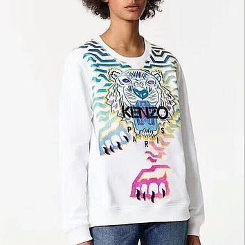 One-nice™ '' KENZO '' Fashion Casual Long Sleeve Sweater Pullover Sweatshirt