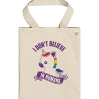 I Don't Believe in Humans (tank)-Unisex Natural T-Shirt