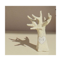 Wedding Cake Topper Tree with your Initials Love by byAnnoDomini
