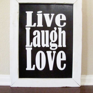 Live Laugh Love Handmade Sign Rustic Frame Wall Decor Wood Sign
