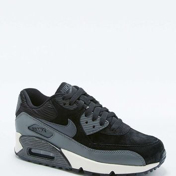 Nike Air Max 90 Black Leather Trainers - Urban Outfitters