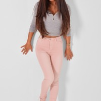 Katrin Pink High Rise Jeans | Pink Boutique