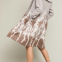 Embroidered Treeline Sweater Coat