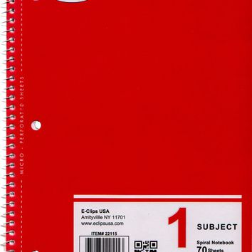 College Ruled Notebook - 70 sheets Case Pack 48