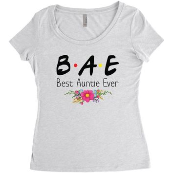 Bae Best Auntie Ever Friends Tv Show Parody Women's Triblend Scoop T-shirt