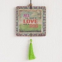 Car  Air  Fresheners:  Love  And  A  Dog  Tassel  Air  Freshener  From  Natural  Life