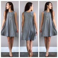 A Sophie Tee Dress in Grey