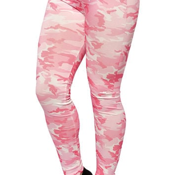 Pink Camo Leggings Design 446