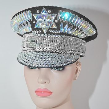 Holographic Crystal Military Hat (6 Styles)