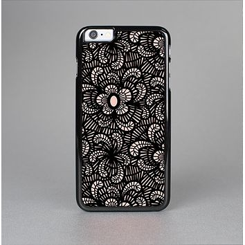 The Black Floral Lace Skin-Sert for the Apple iPhone 6 Skin-Sert Case