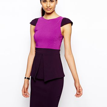 lock Dress with Peplum