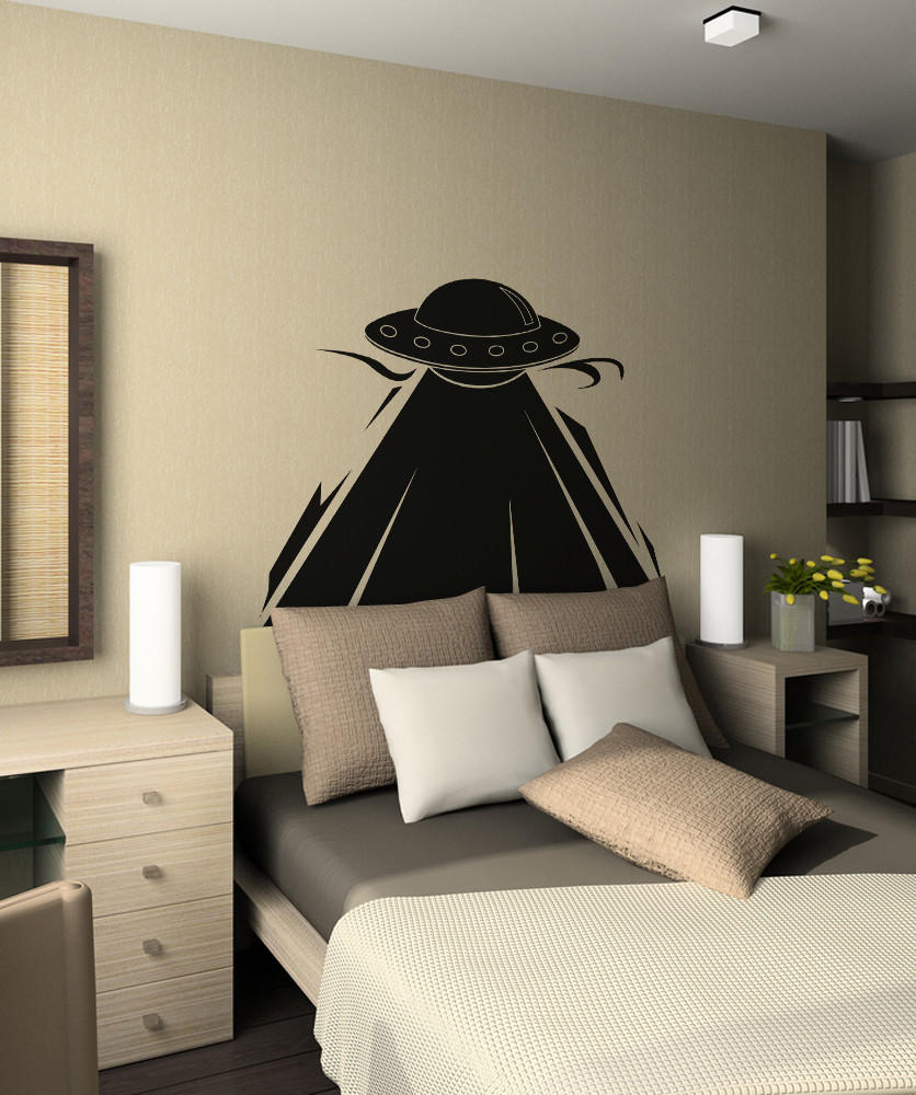 Vinyl Wall Decal Sticker UFO Abduction from StickerBrand  012001d72