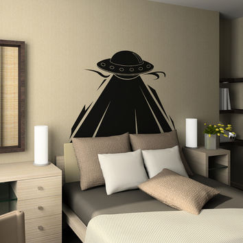 Vinyl Wall Decal Sticker UFO Abduction #OS_AA805