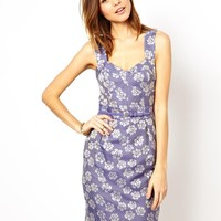 French Connection Fitted Pencil Dress in Jacquard