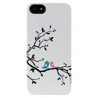 Uncommon Love Birds Deflector Cell Phone Case for iPhone® 5 - White/Black (C0070-R)