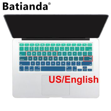 "Gradient Ombre Colors US layout Keyboard Cover Silicone Skin for MacBook Pro 13"" 15"" 17"" Retina for iMac & MacBook Air 13"""
