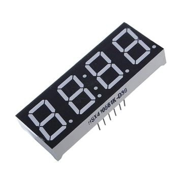 New DIY Electric Unit 0.56 Inch 7 Segment 4 Digit Super Red Clock LED Display Common Anode Time 12 Pins For DIY 2 x 0.75 inch